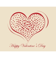 Living heart on valentine day vector