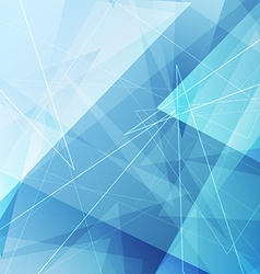 Bright blue triangle abstract background design vector