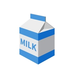 Milk packet vector