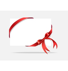 Card with decorative bow vector