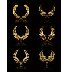 Set of wreath vector