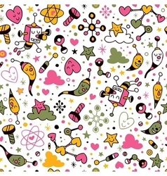Fun cartoon pattern 9 vector