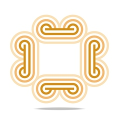 Logo abstract infinity line corporation vector