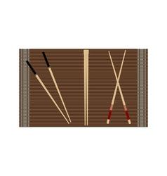 Chopsticks for sushi vector