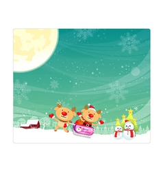 Rudolph a deer mascot using a variety of card desi vector