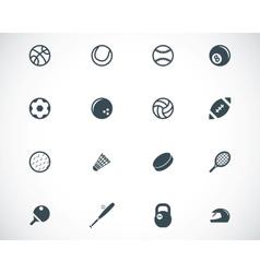 Black sport icons set vector