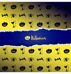 Background with pattern of halloween characters vector