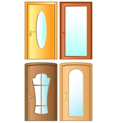 Set modern doors vector