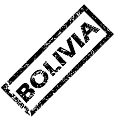 Bolivia rubber stamp vector