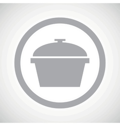 Grey pan sign icon vector