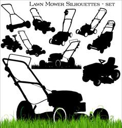 Lawn mower set vector