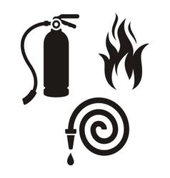 Fireman icons vector