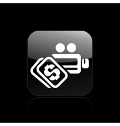 Video cost icon vector