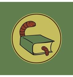 Book worm vector