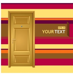 Yellow door in the wall for text vector
