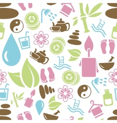 Spa seamless pattern vector