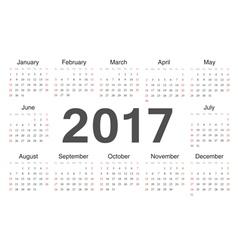 Circle european calendar 2017 vector