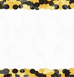 Gold seamless border pattern vector