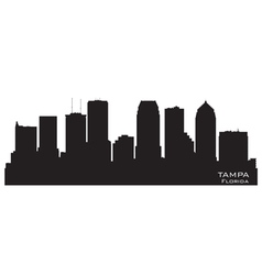 Tampa florida skyline detailed silhouette vector