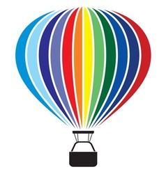 Air balloon isolated on white vector
