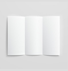 Blank trifold paper brochure vector