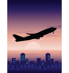 Night flight vector