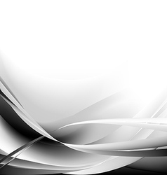 Black and waves abstract background vector