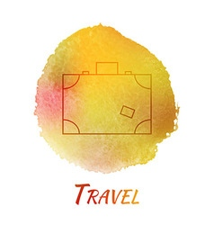 Travel suitcase watercolor concept vector