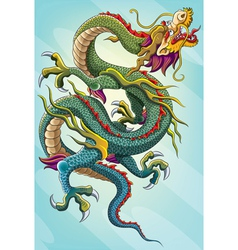 Chinese dragon painting vector