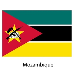 Flag of the country mozambique vector