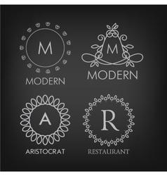 Set of luxury simple and elegant monogram designs vector