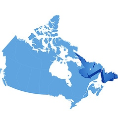 Map of canada - newfoundland and labrador province vector