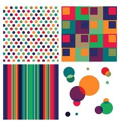 Retro colorful pattern combo vector