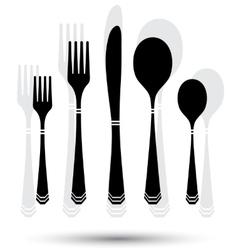 Cutlery black vector