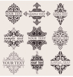 Ornate banners vector