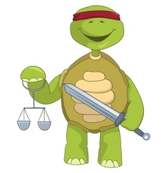 Funny turtle law vector