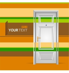 White door in the wall for text vector