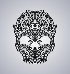 Ornament skull art vector