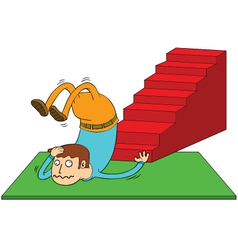 Stair accident vector