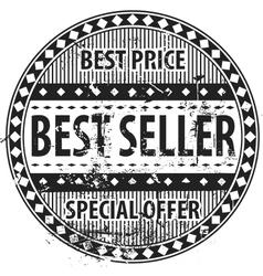 Best seller rubber stamp grunge vector