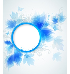 Decorative abstract blue round background vector
