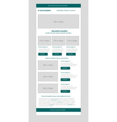 Newsletter dark green template with business style vector