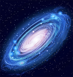 Beautiful glowing andromeda galaxy vector
