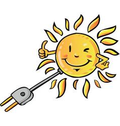 Sun eco solar vector