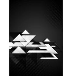 Dark hi-tech geometric background vector
