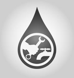 Repair plumbing drop vector