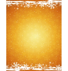 Golden grunge christmas background vector