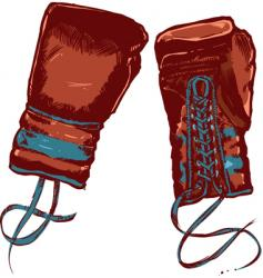 Vintage boxing gloves illustration vector