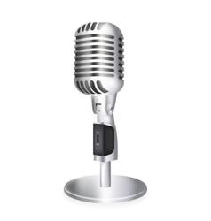 Single retro microphone vector