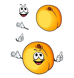 Smiling peach or nectarine fruit cartoon character vector